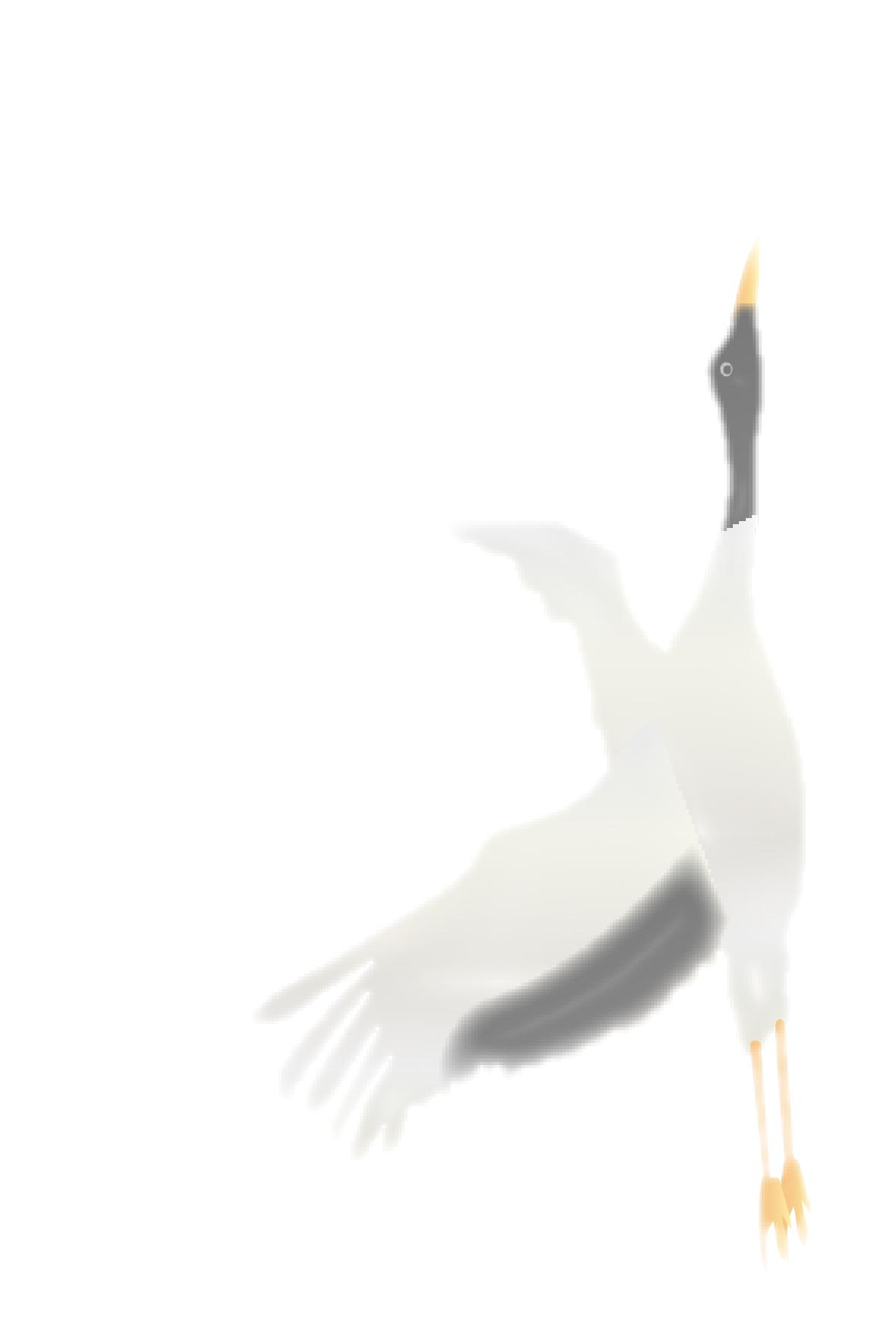 恭賀新年と鶴のイラスト付き(文字なし)