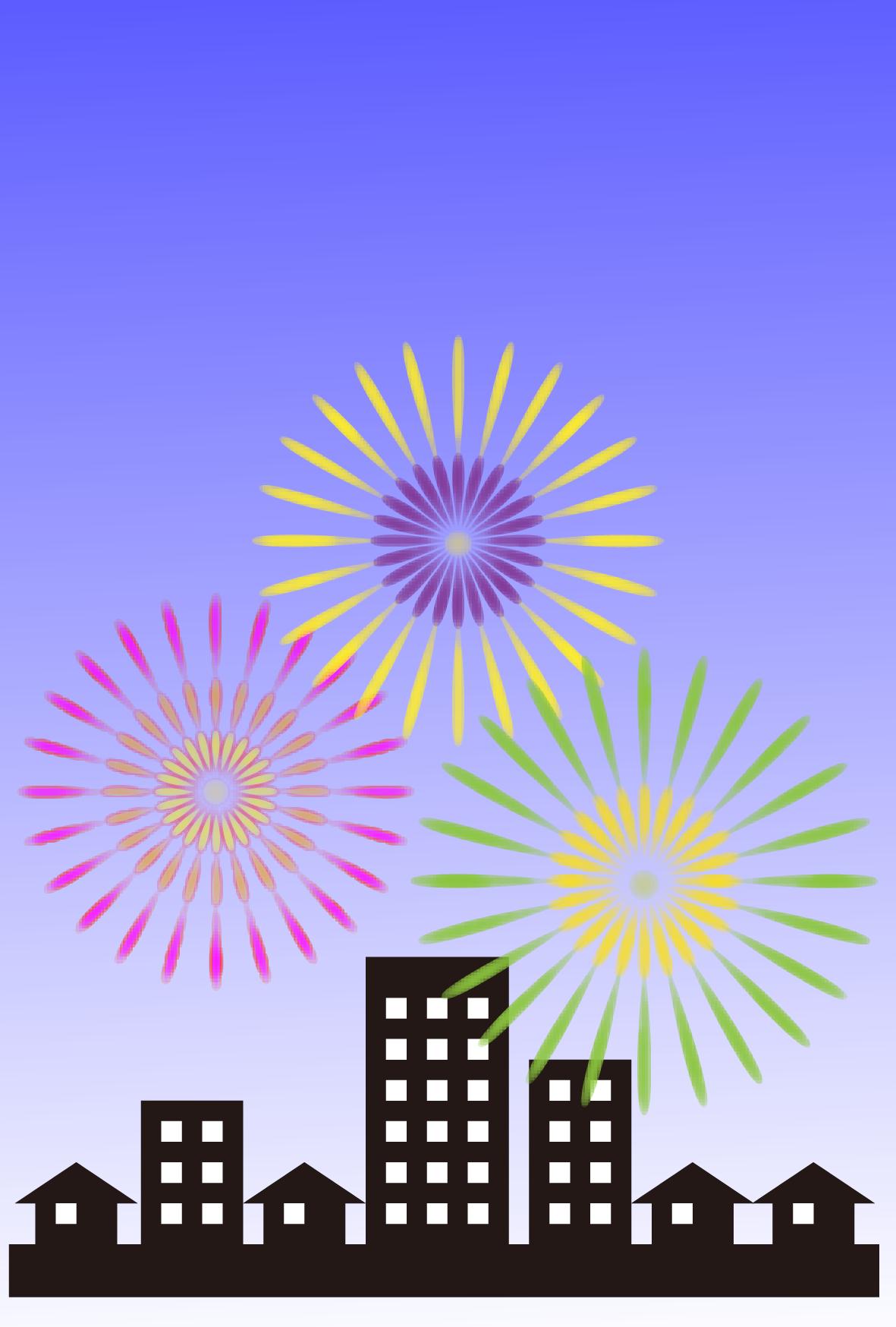 新春の花火(文字なし)